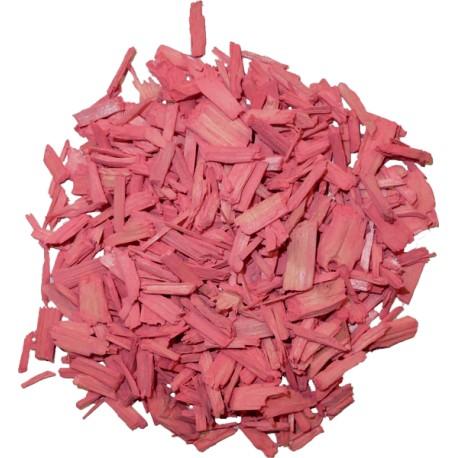 jardin et plante intérieur paillage organique couleur rose vif